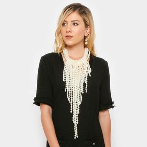 Jewelry - Multi Pearl Strand Statement Necklace